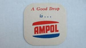 """1960's Circa AMPOL Australian Owned """"A Good Drop is ... Beer/Drinks Coaster."""