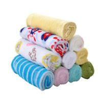 8PCS Newborn Baby Soft Bibs Infant Cotton Saliva Kids Feeding Wipe Scarf Towel