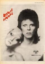 David Bowie 1973 Pinups UK record advert MM-DFSW