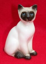 VINTAGE MINIATURE FINE BONE CHINA SIAMESE CAT FIGURINE DECORATION