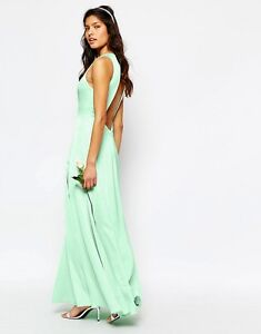 Fame and Partners Asleigh Maxi Dress Open Back And Side Splits UK 8/EU 36/US 4