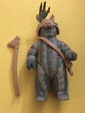 Vintage 1984 Star Wars Teebo Ewok Action Figure Complete w/Headdress, Axe, Horn