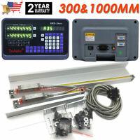 "12""40"" TTL Linear Scale 2Axis Digital Readout Kit DRO Display Bridgeport Mill US"