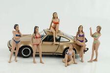 Figuren Set II 6 Stück Figur Calendar Girls Bikini American 1:24 Diorama no car