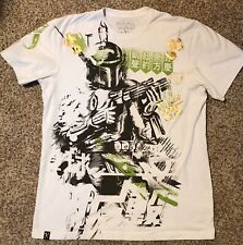Star Wars + Marc Ecko Cut & Sew 2009 Release T-Shirt Boba Fett Size Large White