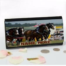 Personalised Shire Horse Cart Show Ladies Large Money Coin Purse Mum Gift SH304