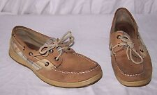 Women's size 7.5 5092 SPERRY TOP-SIDER Leather Plaid Boat Shoe Slip On Loafer