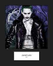 JARED LETO (Suicide Squad - JOKER) #1 Signed 10x8 Mounted Photo (REPRINT)
