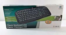 LOGITECH Classic Keyboard 200 Black USB Key Pad Computer NEW & SEALED in Box