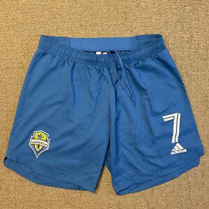 ADIDAS SEATTLE SOUNDERS FC GAME/MATCH SHORTS #7 AEROREADY Sz XL MLS SOCCER