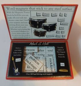 Magnetic Poetry Kit - Rock & Roll - unopened/new - 240 magnet words & fragments