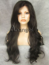 Black Lace Front Wig Long Curly Women Wavy Wigs Synthetic Heat Resistant Hair