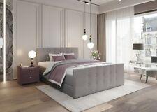Boxspringbett Schlafzimmerbett PARIS 180x200 GRAU Bettkasten + Topper SOFORT