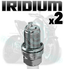 2x AGA Iridium Spark Plugs for TRIUMPH 865cc Bonneville T100 50th 2014 D8RTCI-9