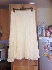 Women's Synthetic No Pattern Flippy, Full Calf Length Skirts