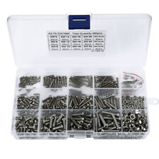 480X M2 M3 M4 Stainless Steel Metric Cross Pan Head Screw Nuts Assortment KIT CA