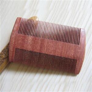 Double Sided Comb Fine Coarse Holistic Natural Wooden Anti-Static Moustache CZ