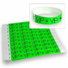 "3/4"" Tyvek Wristbands Neon Green VIP -500 Count"