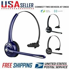 Mpow Pro Trucker Bluetooth Headset Call Center Headphone 4X Noise Cancellation
