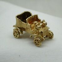 Super Quality 1960's Large Heavy Solid 9ct Gold Vintage Car Charm