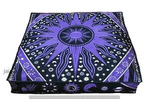 Indian 100 % Cotton Star Hippie Mandala Psychedelic Cousins Cover  Throw Ethnic