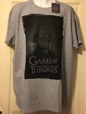 HBO Official Mens GoT Game Of Thrones THRONE Grey T-Shirt in XXL BNWT