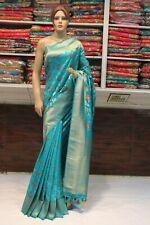 Classy Indian Ethnic Banarasi Silk Saree Bollywood Sari Bridal Party Dress