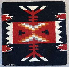 Wool Pillow Cover HIMAYPC-55 Hand Woven Southwest Southwestern 18X18 Black