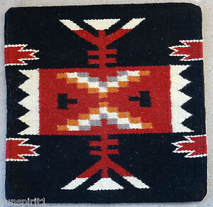 Wool Pillow Cover HIMAYPC-55 Hand Woven Southwest Southwestern 18X18 Black