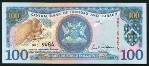 Trinidad & Tobago 100$ 2002 Arms Issue with Greater Bird of Paradise P45 UNC