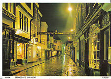 Yorkshire Postcard - Stonegate By Night - York   LE233