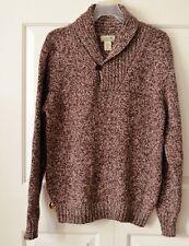 L.L.Bean Men's M Ragg Wool Shawl Collar Sweater