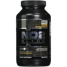 No2 Black 180 Caplets #1 Nitric Oxide Generator Build Muscle Performace Enhanced