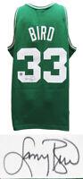 Larry Bird Signed Boston Celtics Green M&N NBA Swingman Jersey - SS & BIRD HOLO
