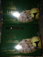KOSKA FISTIKLI LOKUM with Pistachio Turkish Delight 650g  22.92oz 1.43lbs