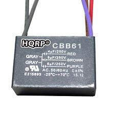 HQRP Capacitor de Motor para Hampton Bay 4uf+5uf+6uf 5-Alambre CBB61 Reemplazo