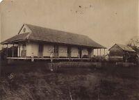 Madagascar Casa Siedler Francia Foto Vintage Albúmina Aprox 1885