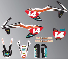 2019 KTM 50sx FACTORY STYLE GRAPHICS KIT (WHITE)