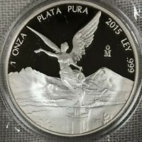 "2015 1oz Silver Libertad Proof - ""Treasure Coin of Mexico"""