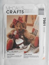 McCall Crafts 7981 pattern Gracie Bear - Hillberry Bear & Doll Co  Maureen Hills