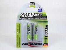 2 x Ansmann Solar Akku NiMH 800mAh Mignon AA Solarleuchten 2er Pack