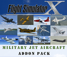Flight Simulator X FSX Addon Bundle - Military Jet Aircraft Aviation - 15+ NEW!