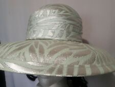 Mr. John classic  Mint & Silver sunday dress church wide Hat  vintage