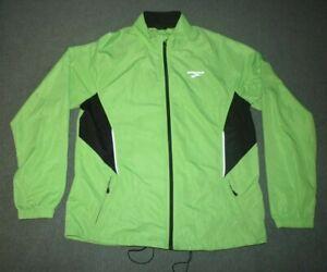 Brooks Mens Running Reflective Green Lightweight Jacket Medium cycle waterproof