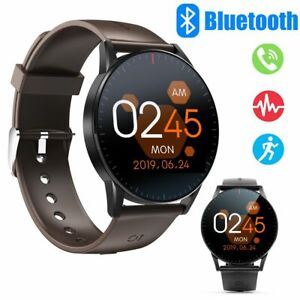 Men Touch Screen Smart Watch Fitness Tracker Calls Reminder for Samsung iPhone