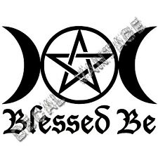 Blessed Be Triple Moon Vinyl Sticker Decal Wicca Nature - Choose Size & Color