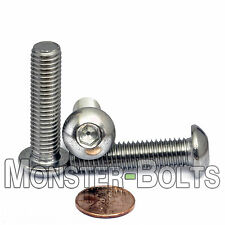 10mm x 1.50 x 40mm - Qty 10 - A2 Stainless Steel BUTTON HEAD Screws M10-1.5 x 40