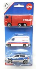 Siku Poland Edition #1819 Emergency Set Ambulance Fire Vehicle Police blister