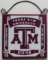 New Texas A&M University TAMU College Licensed Wooden Sign Fan Sport Team