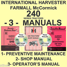 IH McCormick 240 Tractor Preventive Maintenance, Shop, Owners Manual -3- MANUALS
